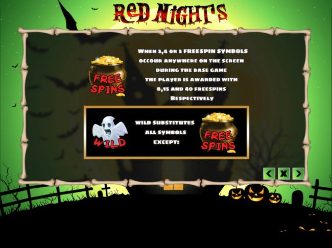 Venetian featuring the Video Slots Red Nights with a maximum payout of $24,000