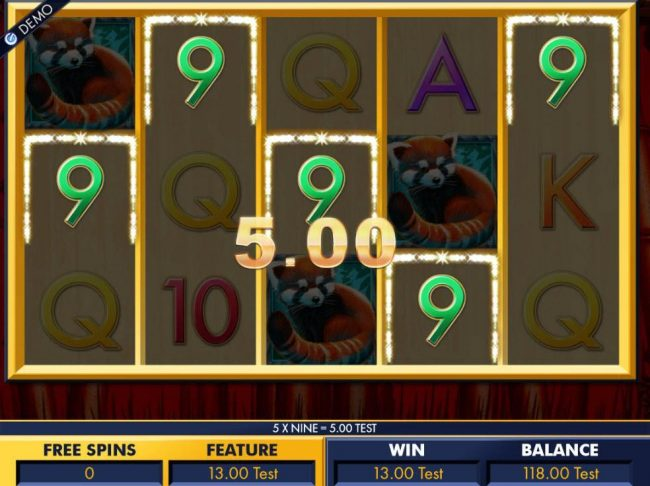 Multiple winning combinatons triggered during free spins feature.