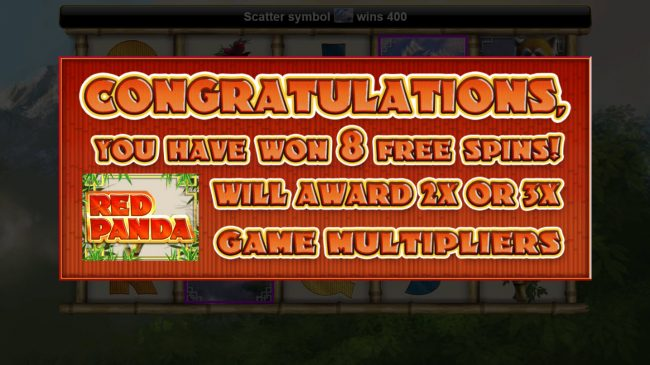 8 Free Spins Awarded