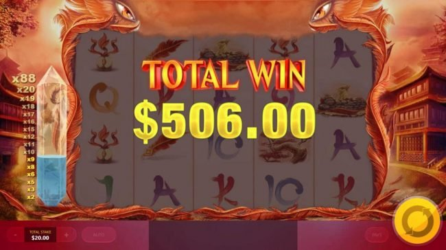Red Phoenix Rising :: Total Free Spins Payout 506.00