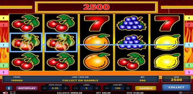 Red Seven :: Multiple winning paylines