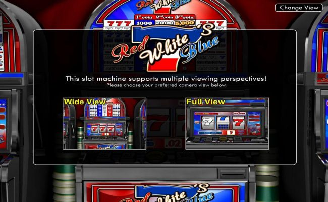 Treasure Mile featuring the Video Slots Red White Blue 7's with a maximum payout of $5,000
