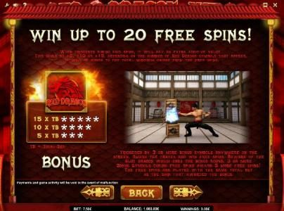 Joker Casino featuring the Video Slots Red Dragon Wild with a maximum payout of $375