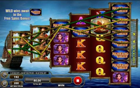 Red Flag Fleet :: Multiple winning paylines triggers a big win!