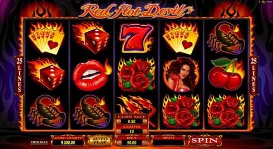 Play slots at Vegas Palms: Vegas Palms featuring the Video Slots Red Hot Devil with a maximum payout of $420,000