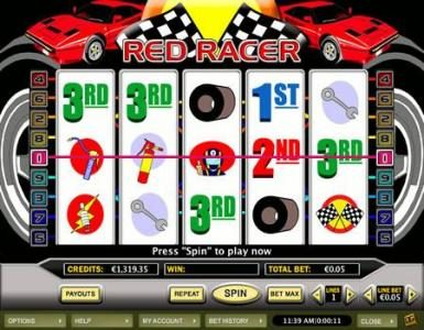 Play slots at Celtic: Celtic featuring the Video Slots Red Racer with a maximum payout of $20,000