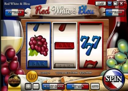 Tradition featuring the Video Slots Red White & Bleu with a maximum payout of $150,000