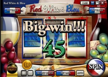 Royal Planet featuring the Video Slots Red White & Bleu with a maximum payout of $150,000
