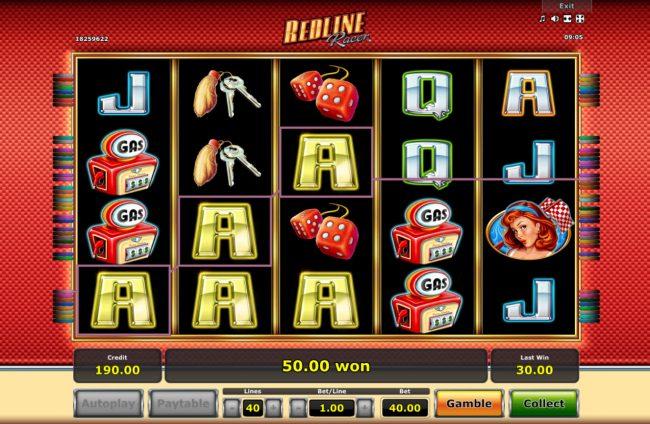 Redline Racer :: Multiple winning paylines