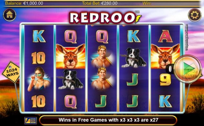 Mega Casino featuring the Video Slots Redroo with a maximum payout of $5,600