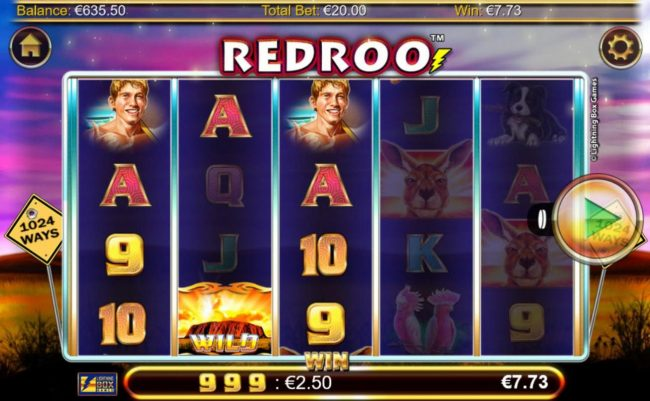 Spinrider featuring the Video Slots Redroo with a maximum payout of $5,600