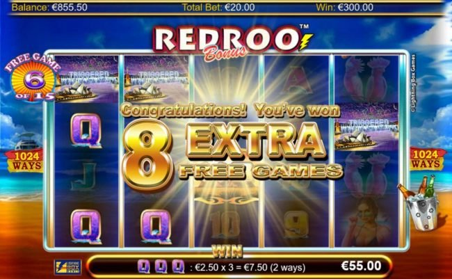 Dream Vegas featuring the Video Slots Redroo with a maximum payout of $5,600