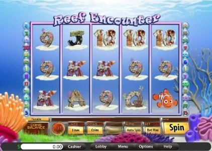 Roadhouse Reels featuring the Video Slots Reef Encounter with a maximum payout of $7,500