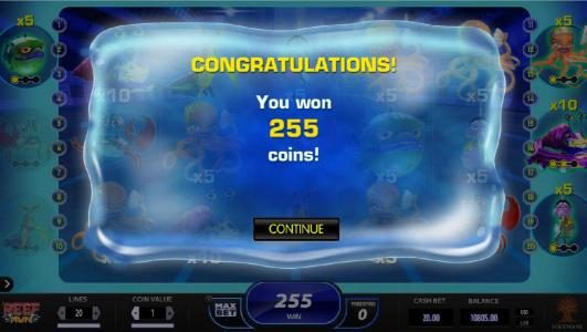 Crazy vegas featuring the Video Slots Reef Run with a maximum payout of $20,000