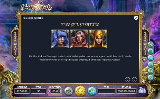 Reel Angels :: Free Spins Rules