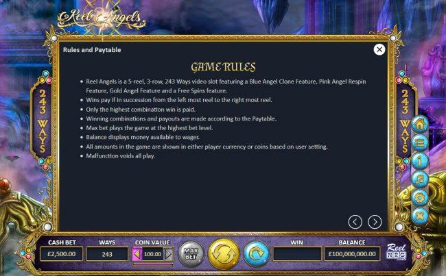 Reel Angels :: General Game Rules