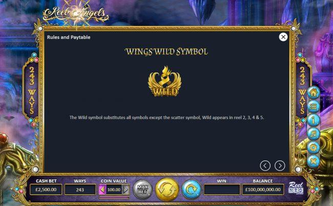 Reel Angels :: Wild Symbol Rules