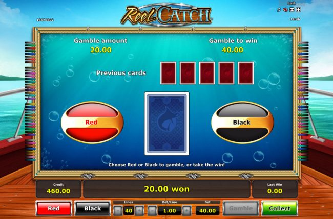 Quasar featuring the Video Slots Reel Catch with a maximum payout of $20,000