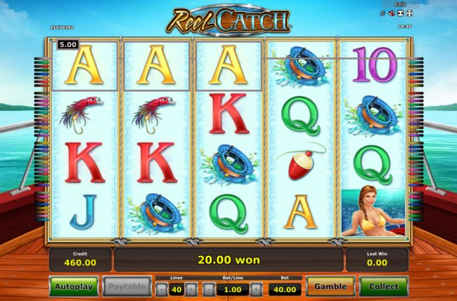 Winner Million featuring the Video Slots Reel Catch with a maximum payout of $20,000