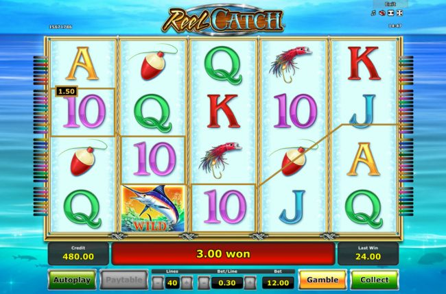 AC Casino featuring the Video Slots Reel Catch with a maximum payout of $20,000