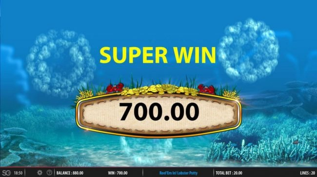 Secret Slots featuring the Video Slots Reel 'em In! Lobster Potty with a maximum payout of $250,000