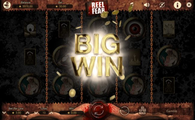Africa Casino featuring the Video Slots Reel Fear with a maximum payout of $15,000