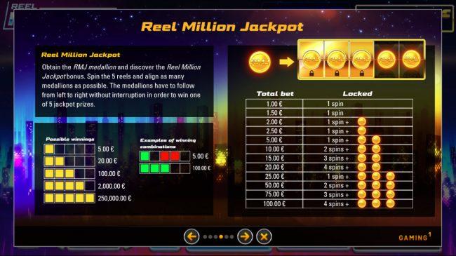 Reel Million Slot :: Jackpot Rules