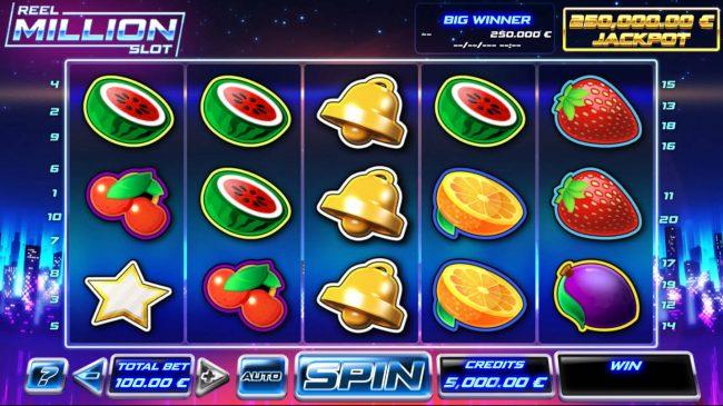 Reel Million Slot :: Main Game Board