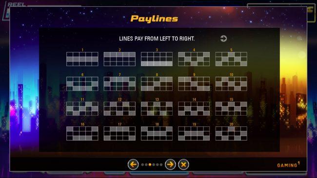 Reel Million Slot :: Paylines 1-20
