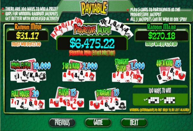 Intertops Classic featuring the Video Slots Reel Poker with a maximum payout of Jackpot