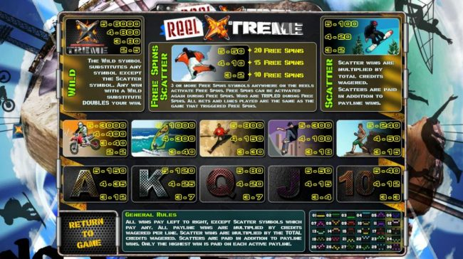 Jumba Bet featuring the Video Slots Reel Xtreme with a maximum payout of $3,000