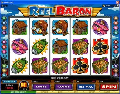 Play slots at Vegas Palms: Vegas Palms featuring the Video Slots Reel Baron with a maximum payout of $10,000