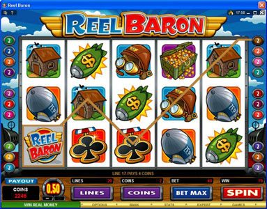 EU Casino featuring the Video Slots Reel Baron with a maximum payout of $10,000