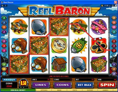 All British featuring the Video Slots Reel Baron with a maximum payout of $10,000