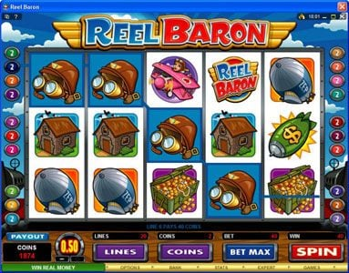 Grand Hotel featuring the Video Slots Reel Baron with a maximum payout of $10,000