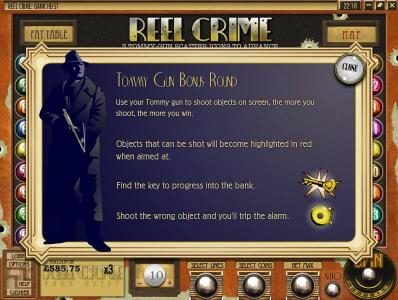 Ruby Royal featuring the Video Slots Reel Crime Bank Heist with a maximum payout of $3,750