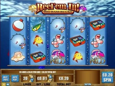 Play slots at Vegas Spins: Vegas Spins featuring the Video Slots Reel 'Em In - Big Bass Bucks with a maximum payout of $250,000