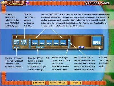 Quickbet Panel layout and description