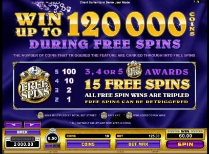 King Neptunes featuring the Video Slots Reel Gems with a maximum payout of $120,000
