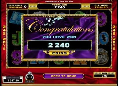 Vegas Slot featuring the Video Slots Reel Gems with a maximum payout of $120,000