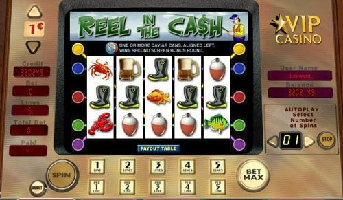 888 Casino featuring the video-Slots Reel in the Cash with a maximum payout of 2,500x