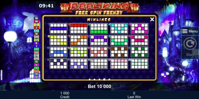 AC Casino featuring the Video Slots Reel King Free Spin Frenzy with a maximum payout of $250,000