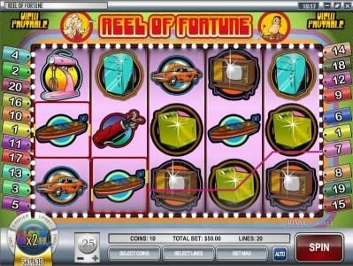 CoCoa featuring the Video Slots Reel of Fortune with a maximum payout of $3,750