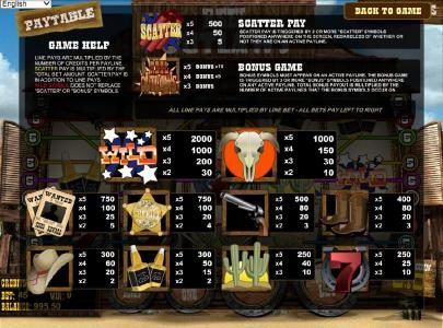 Top Bet featuring the Video Slots Reel Outlaws with a maximum payout of $10,000