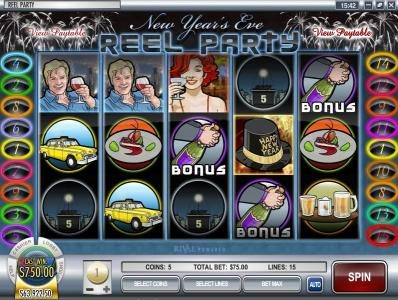 Box24 featuring the Video Slots Reel Party with a maximum payout of $50,000