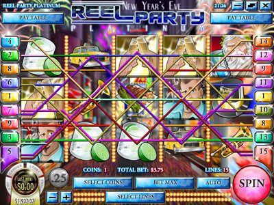 Royal Planet featuring the Video Slots Reel Party Platinum with a maximum payout of $25,000