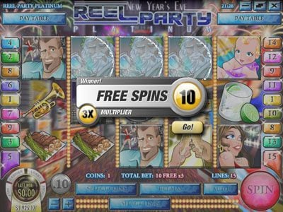 Slots LV featuring the Video Slots Reel Party Platinum with a maximum payout of $25,000