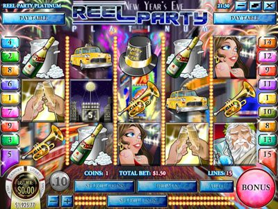 Golden Lion featuring the Video Slots Reel Party Platinum with a maximum payout of $25,000