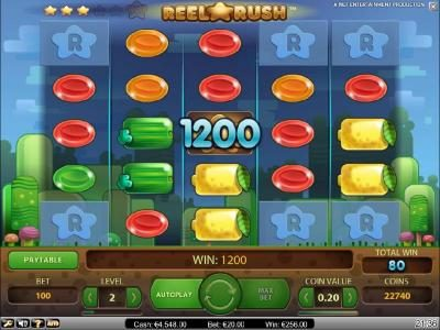 Spinzilla featuring the Video Slots Reel Rush with a maximum payout of $2,000