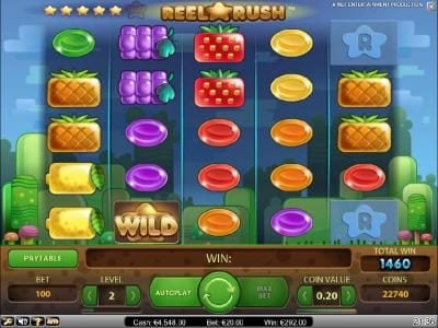 Prime Slots featuring the Video Slots Reel Rush with a maximum payout of $2,000